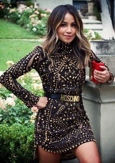 luisaviaroma: gorgeous leather studded dress