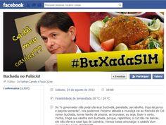 Grupo organiza um serviço de buffet popular em frente à sede do governo (Foto: Facebook/Reprodução) http://www.diariodepernambuco.com.br/app/noticia/politica/2013/08/19/interna_politica,457101/irritado-com-repercussao-da-farra-do-caviar-cid-gomes-afirma-que-cardapio-agora-sera-todo-brasileiro.shtml