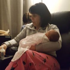 #nanny cuddles #baby #granddaughter #family #christmasbaby