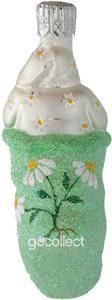 Tiny Stocking Santa (Daisies) Patricia Breen Designs (Bees, Flowers, Green, Ladybugs, Pearl/white)