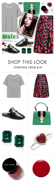 """""""Mules - Yoins 16"""" by anyasdesigns ❤ liked on Polyvore featuring Gucci, CARAT* London, New Directions, Bobbi Brown Cosmetics and Givenchy"""