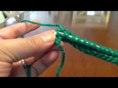 Tunisian Crochet - Spiky Simple Stitch - part 2