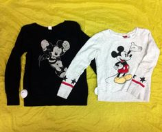 We're in LOVE with these #Disney sweaters - Pick them up at #PlatosBarrie for LESS than $15 each! #MickeyMouse | www.platosclosetbarrie.com