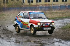 Old but still cool and famous car Fiat jumping - Rally in Jelenia Gora. Fiat 500, Wheel In The Sky, Europe Car, Fiat Abarth, Engin, City Car, Small Cars, Rally Car, Cars And Motorcycles