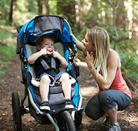 Sport Utility Stroller in Navy shown with Warm Fuzzy (sold separately)