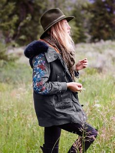 I wish it got cold enough to wear this here. Free People Follow Me Close Parka, $223.50