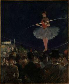 The Tightrope Walker    circa 1885    Jean-Louis Forain
