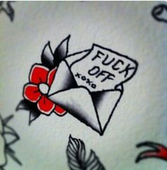 I have this envelope tattoo behind my left ear.