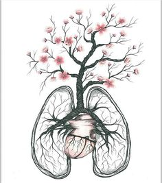 Cherry Blossom Lungs by the talented @linneahaakansson :) #artofdrawingg _ Kik or Email us for a business enquiry or sfs! #art #drawing #artoftheday