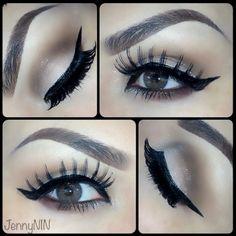 Elegant bridal makeup ❤❤❤ saucebox Mac makeup brown sparkles pressed pigment cateye eyeliner eyeshadow bride