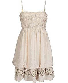 This bubble hem sundress (Daytrip)  has a nice high wiast line and full skirting. Pair with a smaller handgun in the Under Tech Compression Shorts.