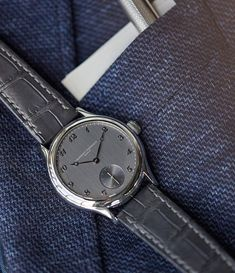 Shades of grey. One of very few @laurent_ferrier Micro-rotors in steel with white-gold Breguet numerals available now.