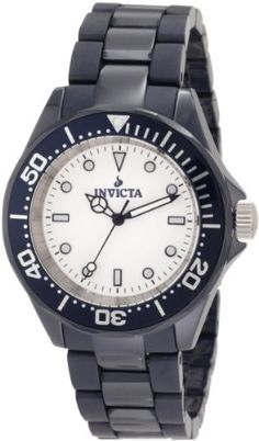 Men's Wrist Watches - Invicta Mens 1183 White Dial Blue Ceramic Watch -- You can get more details by clicking on the image. Casual Watches, Watches For Men, Wrist Watches, Watch Bands, Rolex Watches, Quartz, Ceramics, Blue, Accessories