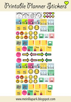 free printable calendar planner stickers - ausdruckbare Agenda-Sticker - freebie