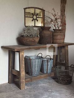 Tv Unit, Wabi Sabi, Rustic Furniture, Entryway Tables, Kitchen Decor, Sweet Home, Home And Garden, Objects, Woodworking