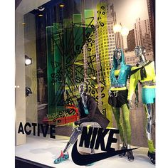 """MACY'S,Chicago,USA, """"ACTIVE"""", (Patterns on neon strips), pinned by Ton van der Veer"""