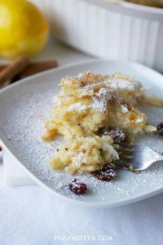 Make-ahead Bougatsa, the popular Greek breakfast pastry! Simple, quick and so delicious. Recipe at figsandfeta.com.