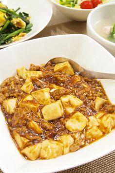 中華料理】「簡単☆ピリ辛☆麻婆豆腐」&5分でニラ玉&鶏むね肉と ...