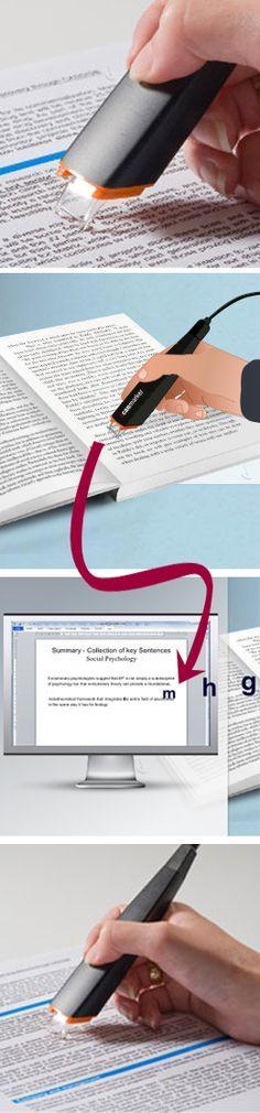 Con este resaltador digital, podrás enviar directamente los textos del libro al computador.