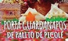 DIY - 3 Modelos de Porta Guardanapo de palito de picolé!