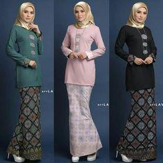Baju Kurung batik Muslimah Fashion Others on Carousell İslami Erkek Modası 2020 Kebaya Modern Hijab, Kebaya Hijab, Batik Kebaya, Kebaya Dress, Kebaya Muslim, Batik Dress, Muslim Fashion, Modest Fashion, Fashion Outfits