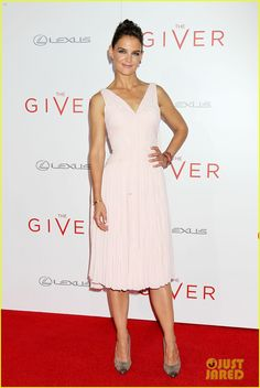 Katie Holmes in Zac Posen at The Giver Premiere