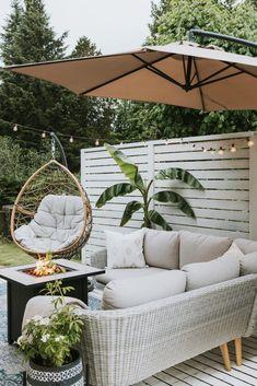 Deck Makeover Part Two - Jessica Sara Morris Outdoor Deck Decorating, Decorating Decks, Deck Makeover, Backyard Patio Designs, Patio Ideas, Backyard Decks, Cozy Backyard, Small Backyard Design, Modern Backyard