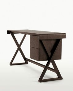 12 Office Desk Redo Ideas for you to renovate your Work space! Table Bar, Table Desk, Table And Chairs, Table Furniture, Space Furniture, Dining Chair, Bureau Design, Console Table, Furniture Styles