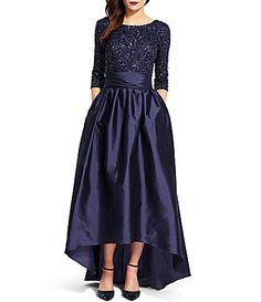 Adrianna Papell Beaded Bodice Taffeta Gown #Dillards