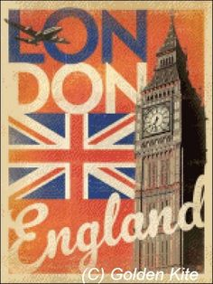 England Big Ben Poster - Solid colors