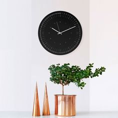 Hoop Wall Clock - Black - by WEEW Smart Design designed in Italy #MONOQI