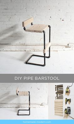 HomeMade Modern Book DIY Pipe Barstool