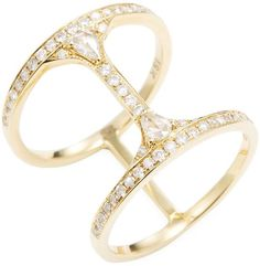 Suneera Women's Cage Gold Ring