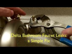 Delta Bathroom Faucet Leaks: A Simple Fix in Less Than 5 Minutes