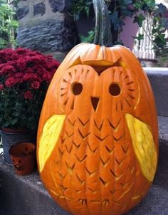 Thumbnail image for pumpkin carving tips and tricks! Whoo! Whoo! Isn't this cute?