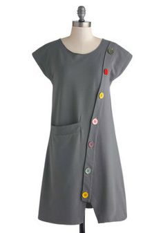 Some tights and a pair of Docs--love it. Smock Hop Dress, #ModCloth