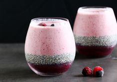 Layered Berry Smoothie Chia Pudding