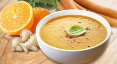 ZESTY CARROT 1 Soup = 285 Kcal Ingredients: 1 bag of COMPLETE VEGETABLE SOUP 300 ml skimmed milk (0,1 %) 1 medium-sized carrot (150 g) 1 piece of ginger (1-2 cm, chopped) Juice of half an orange (max. 50 ml) 1-2 teaspoons of curry Dill to taste  Preparation:  Peel and chop the carrot, then cook it in the milk. In the end, add the ginger and puree everything together. Stir in the orange juice and 1 bag of Vegetable Soup. Add curry to taste. Decorate with dill if desired.