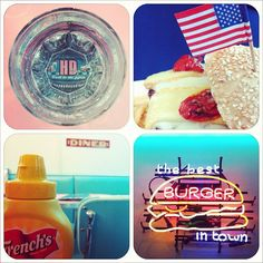 Back to the fifties ! #hddiner #hamburger #mustard #neon #glass @Amandine ★- #webstagram