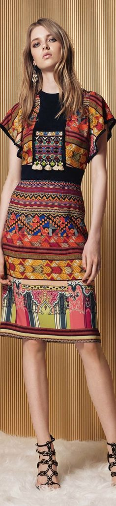 Etro Resort 2017 l Ria Fashion 2017, Runway Fashion, Boho Fashion, High Fashion, Fashion Show, Womens Fashion, Fashion Trends, Mode Statements, Fashion Details