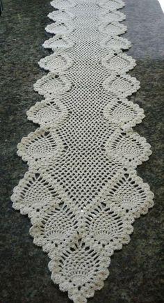 Fractal Crochet pattern by Foxberryjam Crochet Table Runner, Crochet Tablecloth, Crochet Doilies, Doily Patterns, Knitting Patterns, Crochet Patterns, Crochet Home, Hand Crochet, Filet Crochet