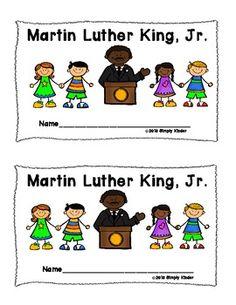 Free Martin Luther King Reader - Simply Kinder - TeachersPayTeachers.com