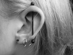 I absolutely adore my vertical industrial :) I'm dying for a black bar, but can't find one long enough D: