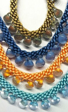 Kumihimo Patterns (use yellow teardrop beads)