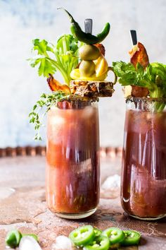 Say hello to the best sweet and spicy Bloody Mary. The post Jalapeño Bloody Mary. appeared first on Half Baked Harvest. Best Bloody Mary Recipe, Bloody Mary Mix, Bloody Mary Recipes, Summer Cocktails, Cocktail Drinks, Cocktail Recipes, Margarita Recipes, Cocktail Glassware, Healthy Cocktails