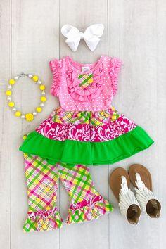 Baby Girl Brown Green Camouflage Black Bow Satin Romper Headband Bow Set NB-3Y Girls' Clothing (Newborn-5T)