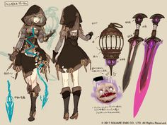 View an image titled 'Gretel Concept Art' in our SINoALICE art gallery featuring official character designs, concept art, and promo pictures. Character Sheet, Game Character, Character Concept, Concept Art, Female Character Design, Character Design References, Character Design Inspiration, Fantasy Characters, Female Characters