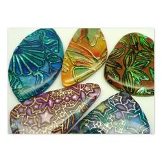 Batik & Shimmer Technique with Recipes - Polymer Clay PDF Tutorial - $12.00