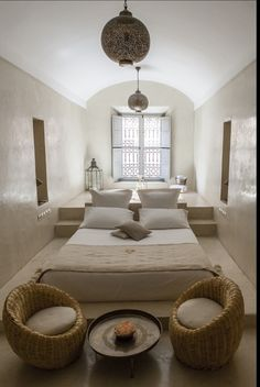 Moroccan inspired bed platform.