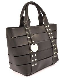 HAND BAG 2702F1044 NERO Borsa Mano Donna Primavera Estate 2017 Shopping Borchie